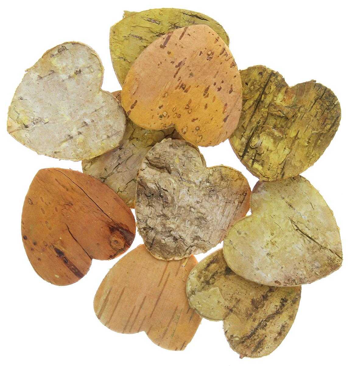 Декоративный элемент Dongjiang Art Сердце, цвет: натуральное дерево, 10 шт7709004_натуральное деревоДекоративный элемент Dongjiang Art Сердце, изготовленный из натуральной коры дерева, предназначен дляукрашения цветочных композиций. Изделие можно также использовать в технике скрапбукинг и многом другом.Флористика - вид декоративно-прикладного искусства, который использует живые, засушенные иликонсервированные природные материалы для создания флористических работ. Это целый мир, в котором естьместо и строгому математическому расчету, и вдохновению. Размер одного элемента: 5 см х 5 см.
