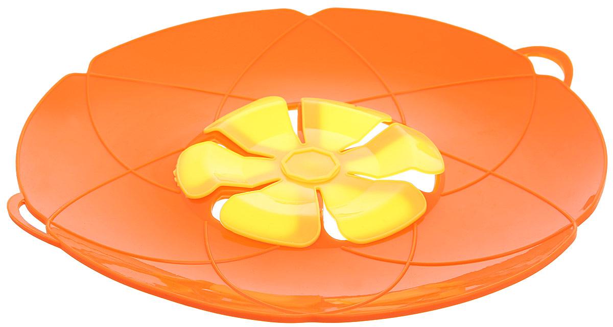 Крышка-невыкипайка Mayer & Boch, цвет: оранжевый, желтый. Диаметр 28 см24257_оранжевыйКрышка-невыкипайка Mayer & Boch изготовлена из силикона высокого качества. Не теряет форму от высоких температур. Крышка-невыкипайка предотвращает выкипание и разбрызгивание во время приготовления. Ваша кухня всегда будет в чистоте. Вы даже можете оставлять без присмотра готовящуюся пищу. При хранении в прохладных местах крышка обеспечит свежесть продуктов.Также изделие используется в качестве пароварки - можно готовить овощи и морепродукты на пару.Подходит для использования на посуде диаметром 15-30 см.Можно мыть в посудомоечной машине, использовать в духовом шкафу и микроволновой печи.