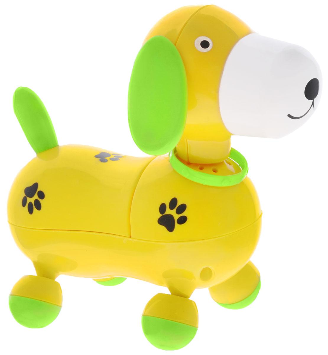 Mommy Love Электронная развивающая игрушка Веселый щенок цвет желтый, Dream Makers