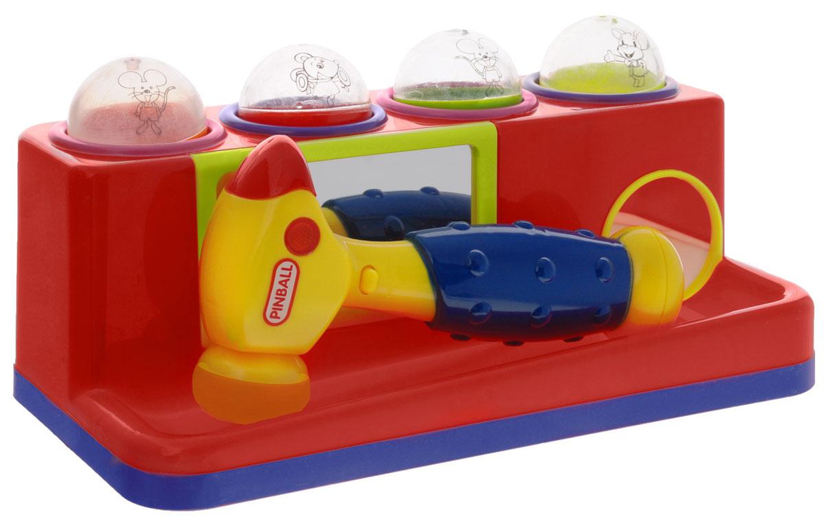 Junfa Toys Игрушка-сортер с молотком цвет красный