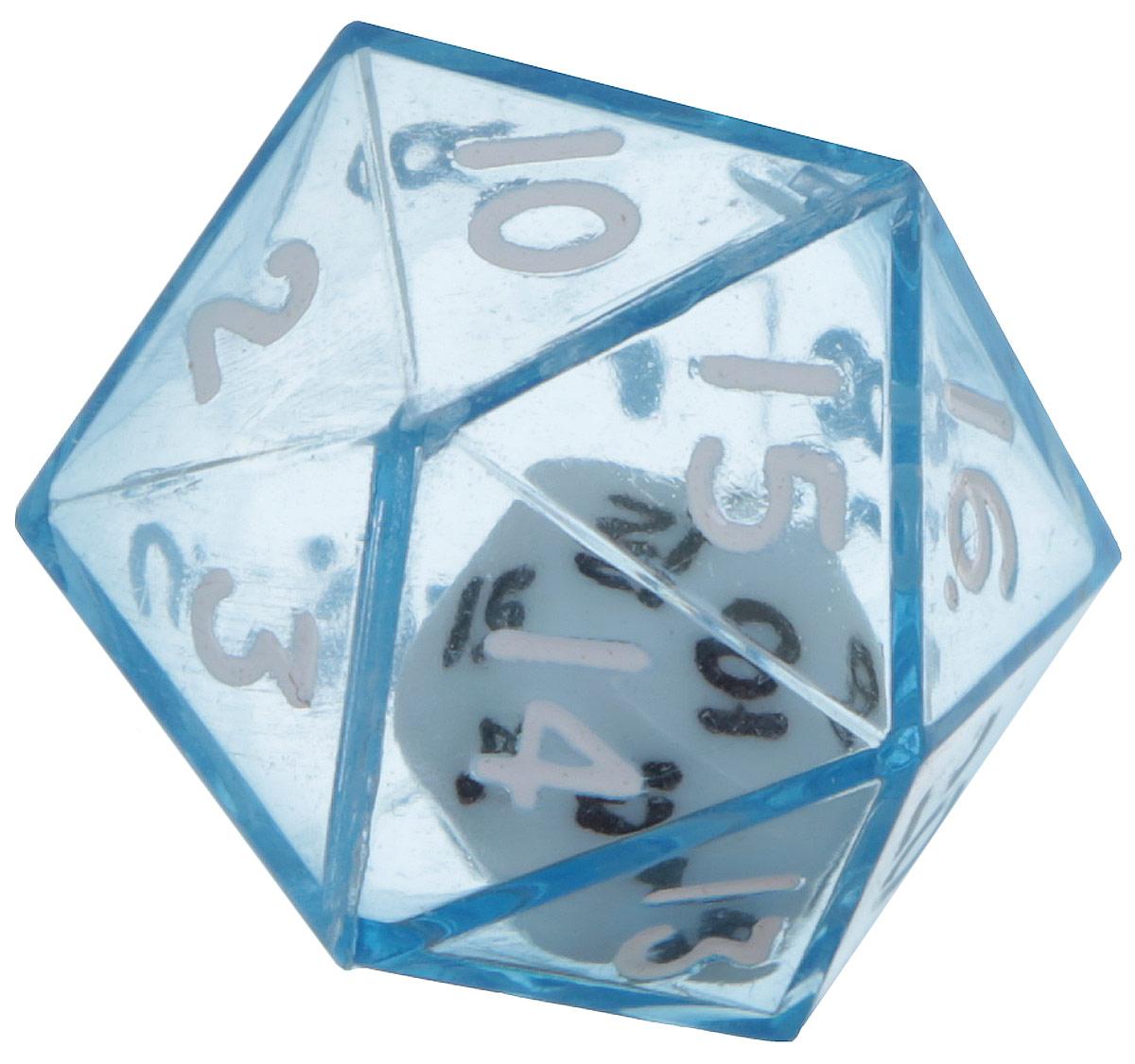 Koplow Games Кость игральная D20 в D20 цвет синий