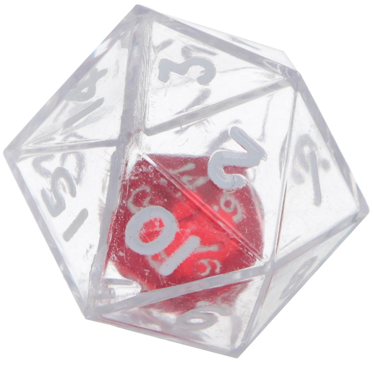 Koplow Games Кость игральная D20 в D20 цвет прозрачный