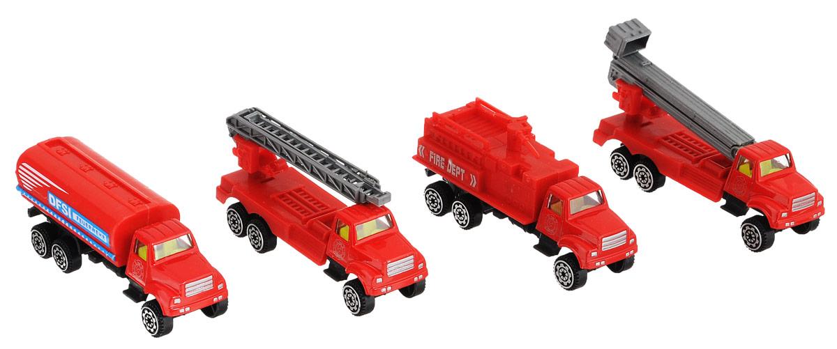 Zhorya Набор машинок Пожарная техника Х75141 технопарк набор машинок военная техника 2 шт sb 15 45