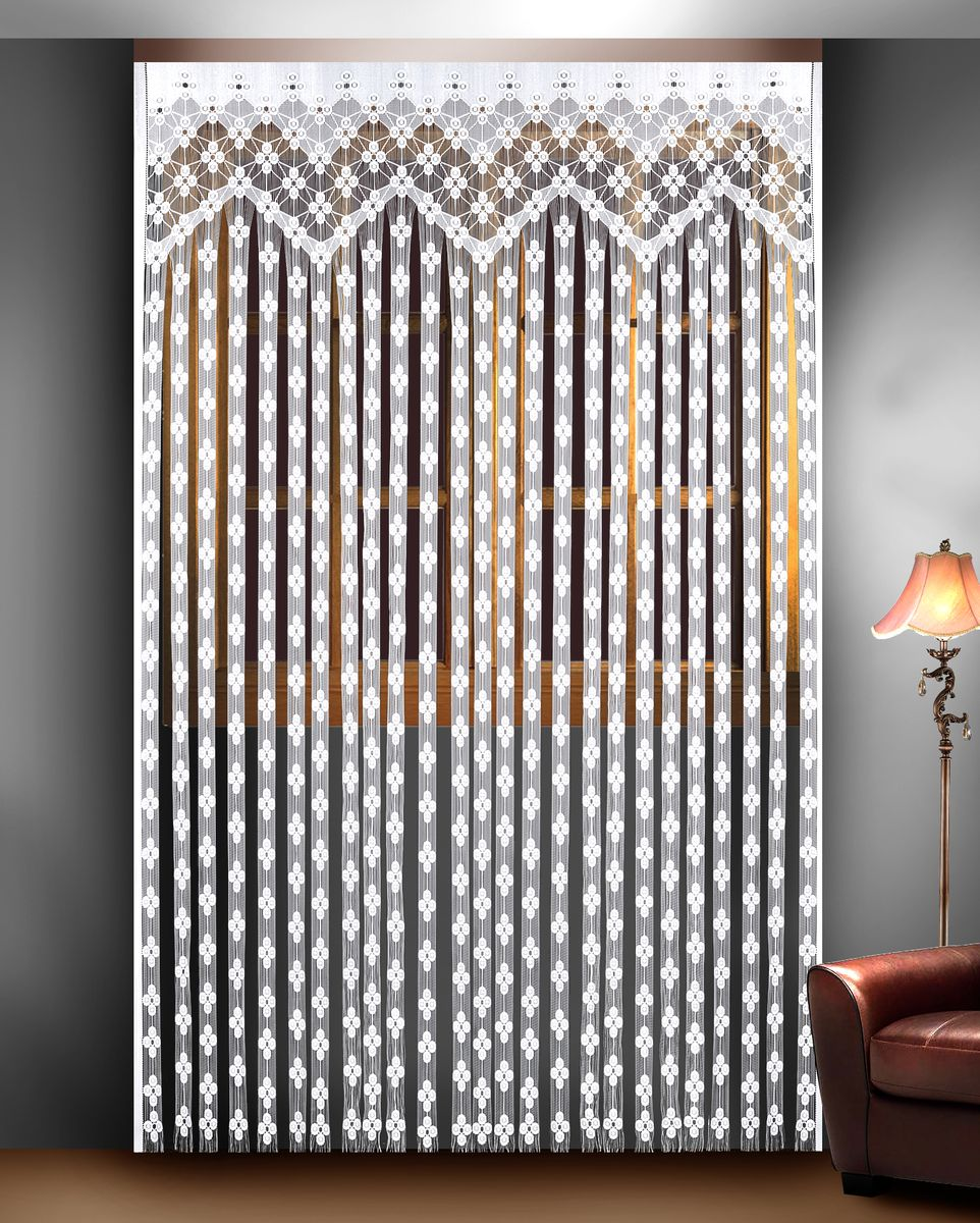 Гардина Zlata Korunka, 165 см х 250 см. 8882788827Гардина из тюле-кружевного полотна, крепление на зажимах для штор.