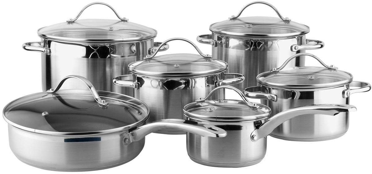 Набор посуды Winner WR-1000, 12 предметов кастрюли winner кастрюля 8 л