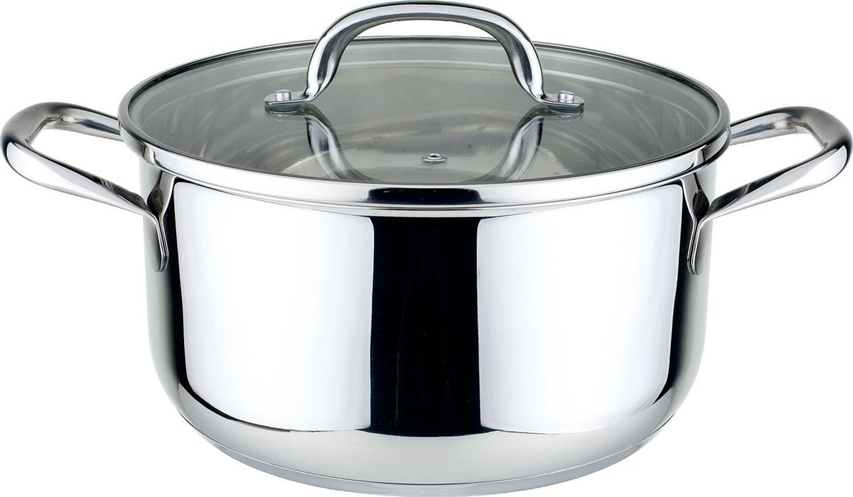 КастрюляWR-1216 7,4лWR-12167,4л(26см), крышка стекл., ручки из нержав. стали, стенка-0,7мм, капсулир. дно, поверхность зерк. Состав: нержав. сталь.