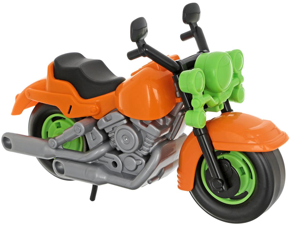 Полесье Гоночный мотоцикл Кросс цвет оранжевый полесье гоночный автомобиль торнадо цвет желтый
