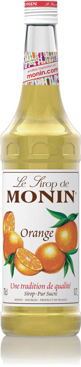 Monin Апельсин сироп, 0,7 лSMONN0-000066Сладкий и терпкий, вкусный и сочный апельсин, любимый во всем мире, происходит от древнего и кислого на вкус дикого китайского предшественника. Все в современном плоде апельсина привлекательно - цвет, свежий аромат, острый сладкий вкус. Апельсины, как и другие цитрусовые, употребляются свежими или в виде сока. Вкус плода апельсина и корки также большое удовольствие в мармеладе, ароматизаторах и кондитерских изделиях, и, конечно в сиропе Monin Апельсин. ВКУС Запах апельсиновой корки, вкус апельсиновых цукатов. ПРИМЕНЕНИЕ Коктейли, газированные напитки, фруктовые пунши и чай. Сиропы Monin выпускает одноименная французская марка, которая известна как лидирующий производитель алкогольных и безалкогольных сиропов в мире. В 1912 году во французском городке Бурже девятнадцатилетний предприниматель Джордж Монин основал собственную компанию, которая специализировалась на производстве вин, ликеров и сиропов. Место для завода было выбрано не случайно: город Бурже находился в непосредственной близости от крупных сельскохозяйственных районов - главных поставщиков свежих ягод и фруктов.Производство сиропов стало ключевым направлением деятельности компании Monin только в 1945 году, когда пост главы предприятия занял потомок основателя - Пол Монин. Именно под его руководством ассортимент марки пополнился разнообразными сиропами из натуральных ингредиентов, которые молниеносно заслужили блестящую репутацию в кругу поклонников кофейных напитков и коктейлей. По сей день высокое качество остается базовым принципом деятельности французской марки. Сиропы Монин создаются исключительно из натуральных ингредиентов по уникальным технологиям, позволяющим сохранять в готовом продукте все полезные свойства природного сырья. Эксперты всего мира сходятся во мнении, что сиропы Monin - это законодатели мод в миксологии. Ассортимент французской марки на сегодняшний день является самым широким и насчитывает полторы сотни уникальных вкусовых решений. В каталоге 
