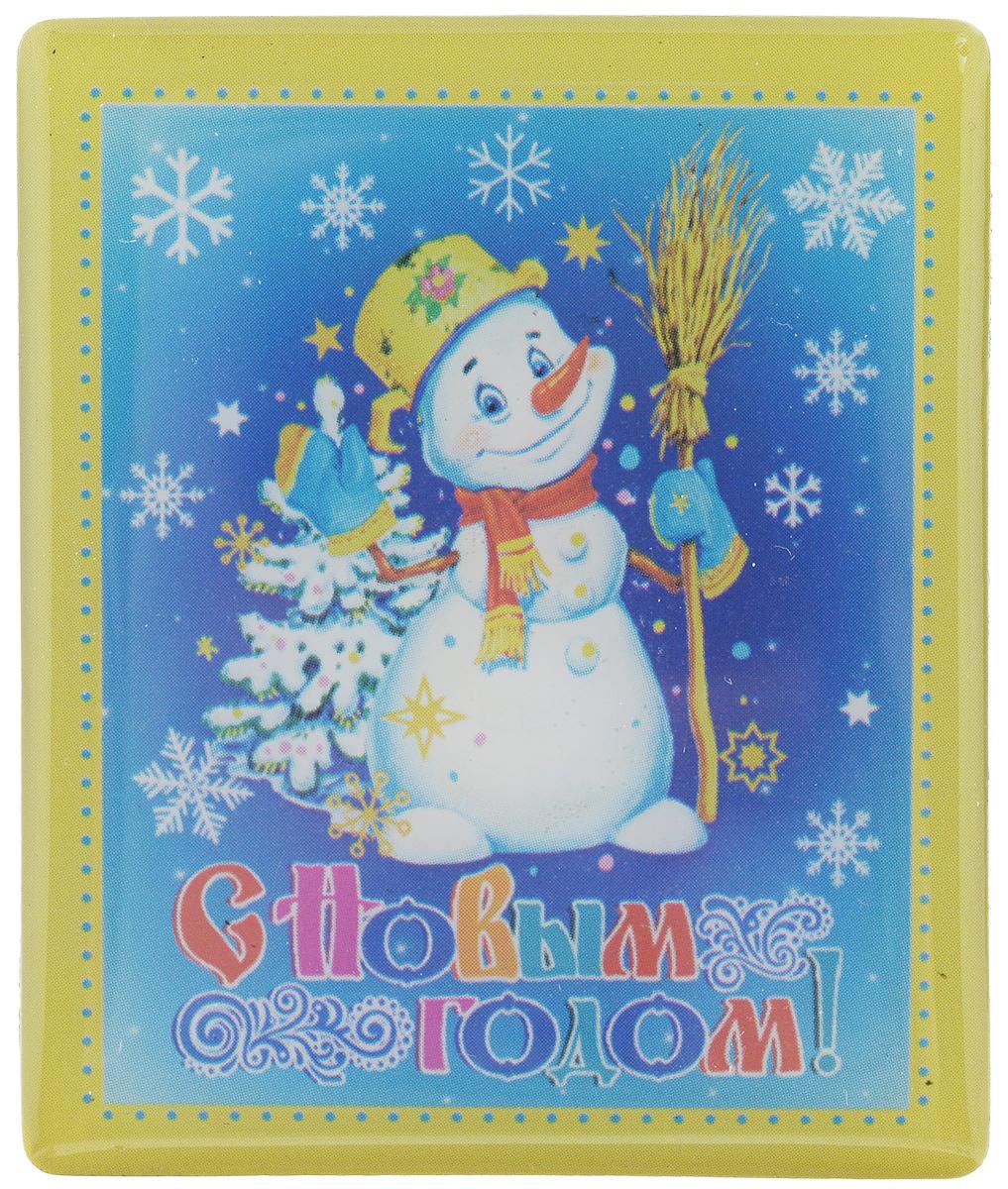 Магнит Феникс-Презент Снеговик, 5 x 6 см миниатюра снеговик цвет серебристый 6 5 см
