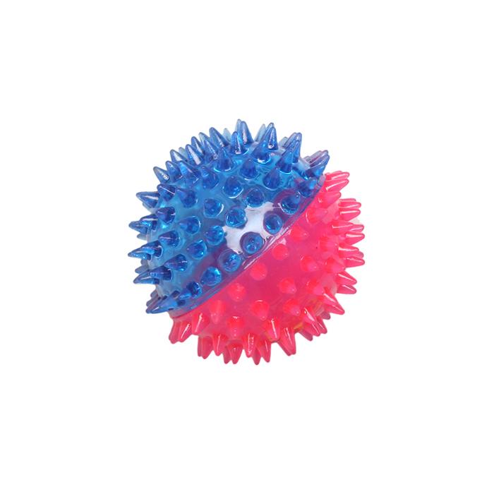 Игрушка Ziver Мяч игольчатый 7 см, розово-голубой игрушка для собак ziver осел длинноухий с пищалкой цвет голубой 18 см