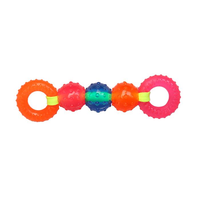 Игрушка Ziver Шарики кольца на веревке 15 см, розово-оранжевые игрушка