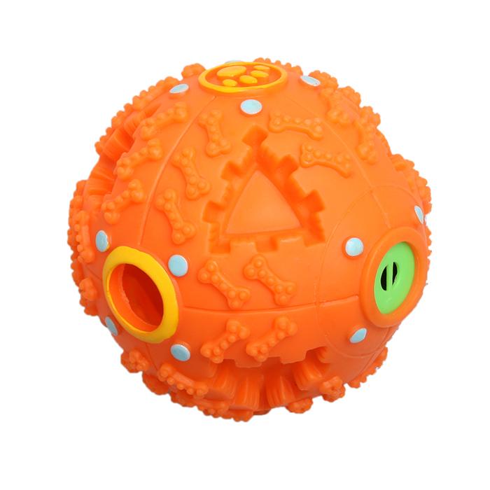Игрушка Ziver Мяч звуковой Размер: 10 см, цвет: оранжевый игрушка для собак ziver осел длинноухий с пищалкой цвет голубой 18 см