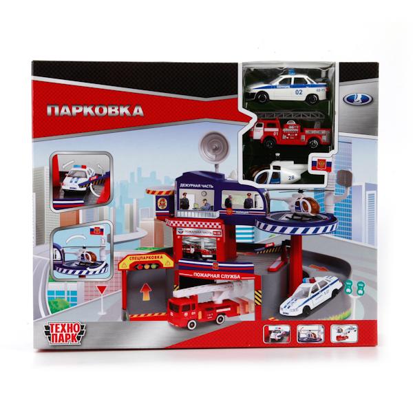 ТехноПарк Игровой набор Парковка со спуском игровой набор технопарк парковка со спуском 33558 r