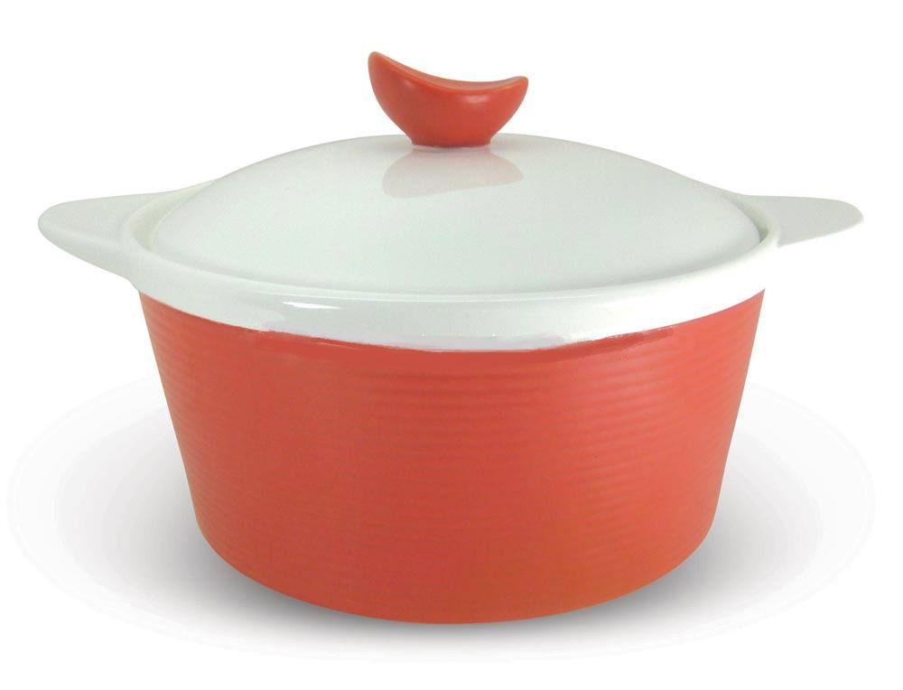 Кастрюля BartonSteel с крышкой, цвет: красный, 1 л кастрюли bekker кастрюля