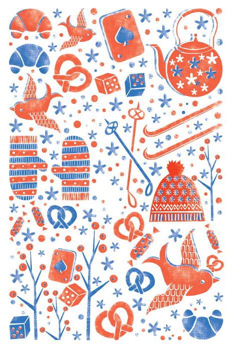 Открытка Зимние каникулы. Автор Екатерина ГорбачеваGbE10-007Оригинальная дизайнерская открытка Зимние каникулы выполнена из плотного матового картона. На лицевой стороне расположена репродукция картины художницы Екатерины Горбачевой с графическими элементами на тему зимнего отдыха. Красочная открытка отличается высоким качеством печати, она поможет вам выразить свои чувства и передать теплое новогоднее поздравление.Такая открытка станет великолепным дополнением к новогоднему подарку или оригинальным почтовым посланием, которое, несомненно, удивит получателя своим дизайном и подарит приятные воспоминания.