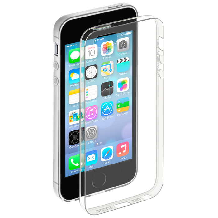 Deppa Gel Case чехол для Apple iPhone 5/5s, Clear s what protective matte tpu pc back case for iphone 5 5s white translucent green