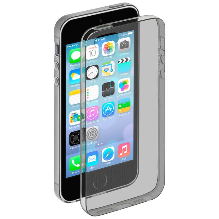 Deppa Gel Case чехол для Apple iPhone 5/5s, Clear Black85201Чехол Deppa Gel Case для Apple iPhone 5/5s предназначен для защиты корпуса смартфона от механических повреждений и царапин в процессе эксплуатации. Имеется свободный доступ ко всем разъемам и кнопкам устройства. Чехол изготовлен из TPU производства Bayer и имеет толщину 0,7 мм.
