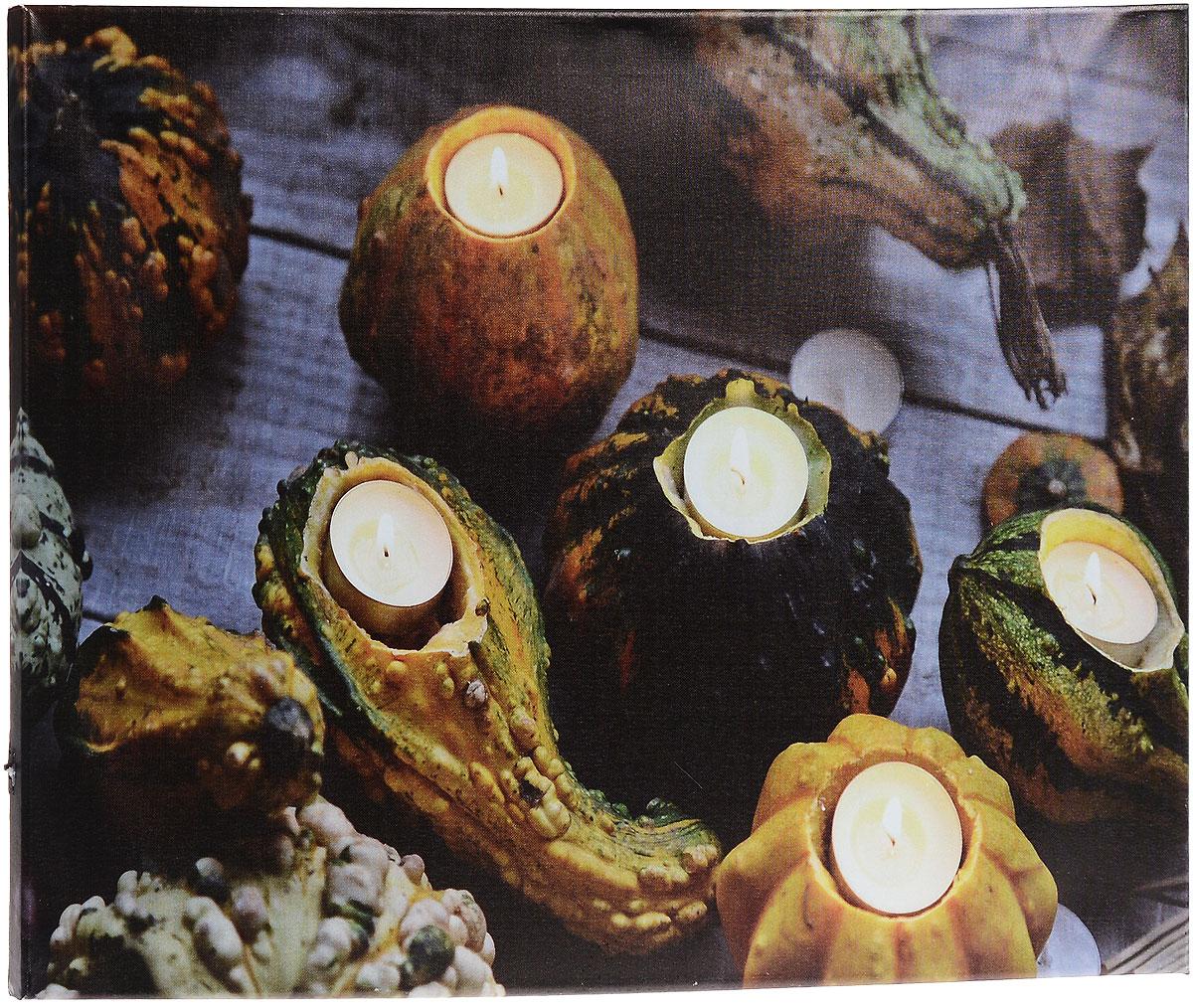 Картина MTH Свечи в тыкве, со светодиодами, 40 см х 60 смled4060-14Картина MTH Свечи в тыкве выполнена на основе из МДФ, обтянутой холстом.Изделие оснащено светодиодами. Их теплый мерцающий в темноте светоживит ваш дом и добавит ему уюта. На картине изображены свечи в подсвечниках из тыкв. Благодаря светодиодной подсветке создается ощущение, что теплый свет, исходящий от свечей, действительно может согревать. С оборотной стороны картина оснащена специальным отверстием для подвешивания на стену.Необычная картина придаст интерьеру невероятного шарма и оригинальности.Рисунок успокаивает нервную систему, помогая расслабиться и отвлечься отповседневных забот. Подсветка работает от 2 батареек типа АА напряжением 1,5V (в комплект не входят).
