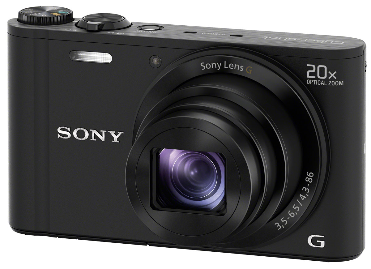 Sony Cyber-shot DSC-WX350, Black цифровая фотокамера - Цифровые фотоаппараты