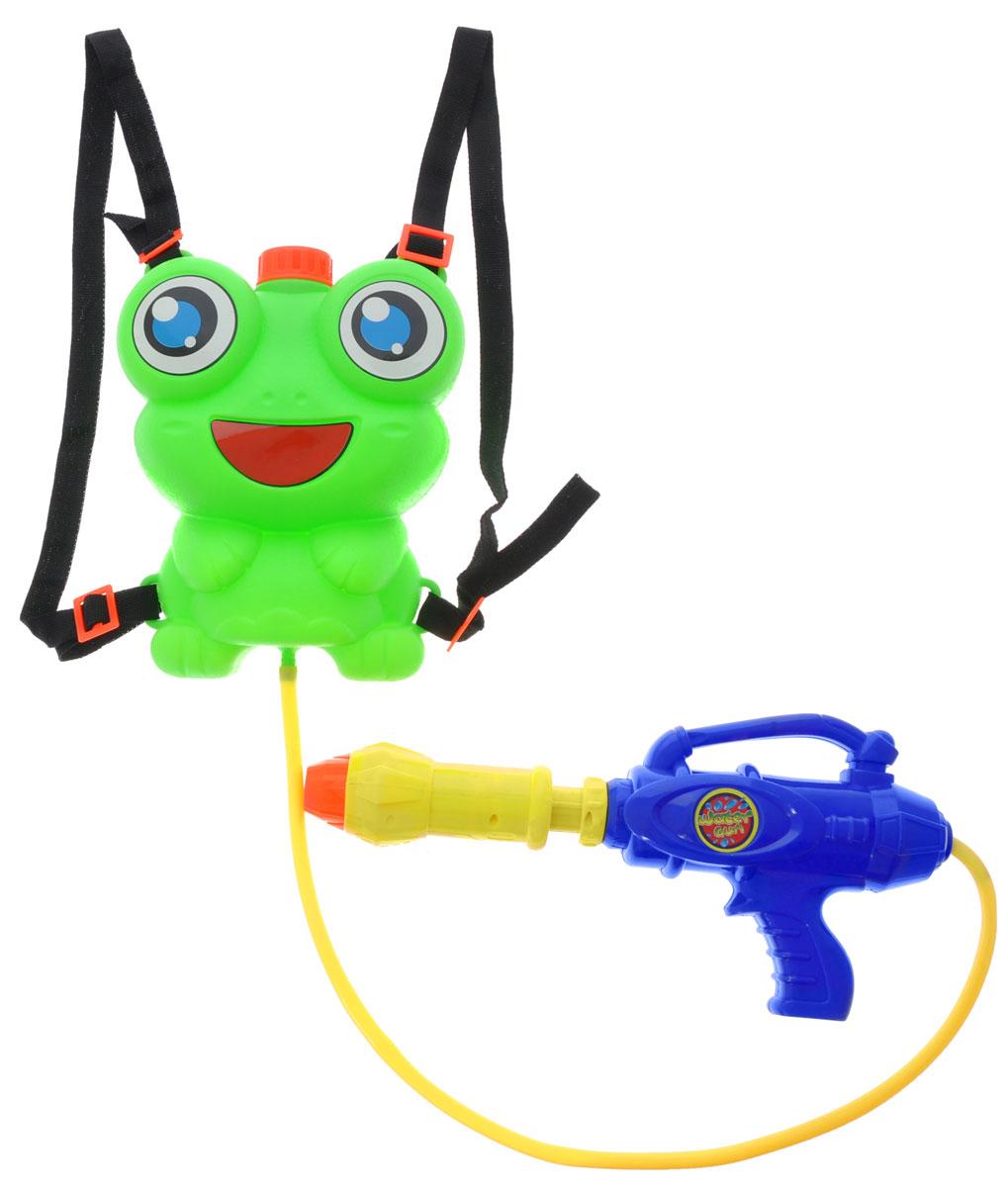 Bebelot Водный автомат Водомет с ранцем-лягушонком цвет зеленый синий желтый водная помпа спасательная операция с ранцем баллоном bebelot
