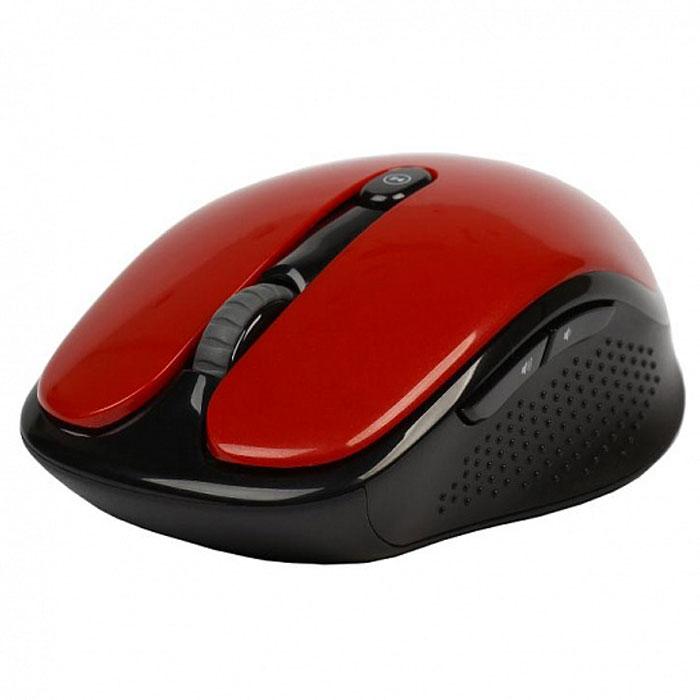 SmartBuy SBM-502, Red мышьSBM-502AG-RУдобная и стильная беспроводная мышь SmartBuy SBM-502 создана специально для удобного применения и обладает высокочувствительным оптическим сенсором, благодаря чему отлично работает практически на любых поверхностях. Клавиши устройства работают, не издавая звуков благодаря чему вы не помешаете окружающим. Разрешение оптического сенсорапереключается в диапазоне 800 / 1000 / 1600 dpi, что способствует точному позиционированию курсора. Оптическая светодиодная мышка отличается удобной эргономикой, а ее форма подходит как левшам, так и правшам.