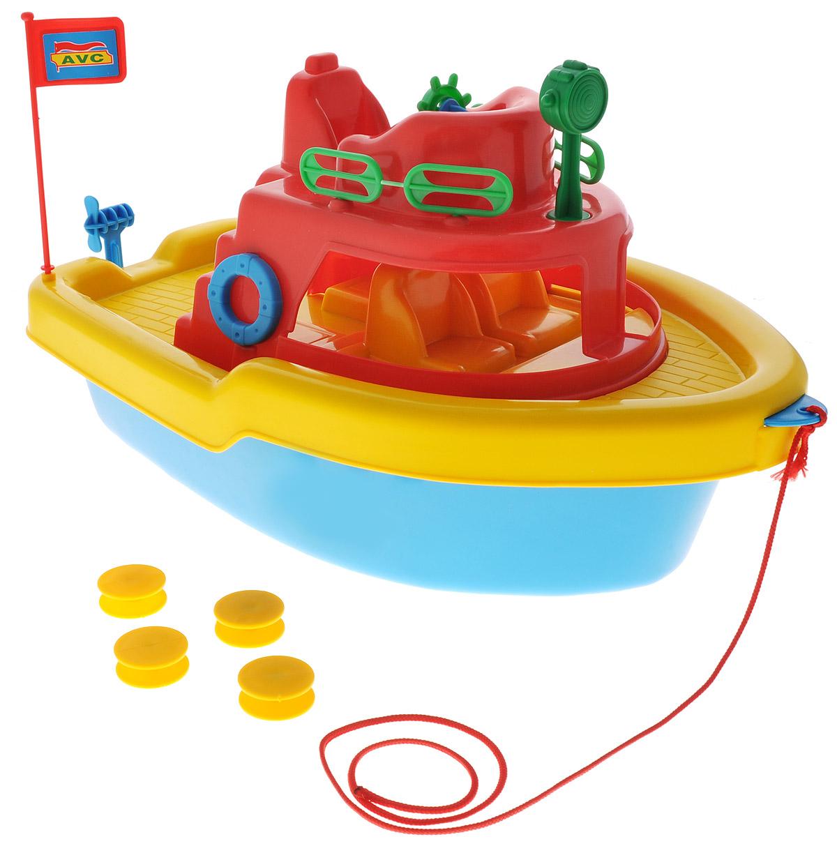 AVC Игрушка Корабль цвет красный желтый синий