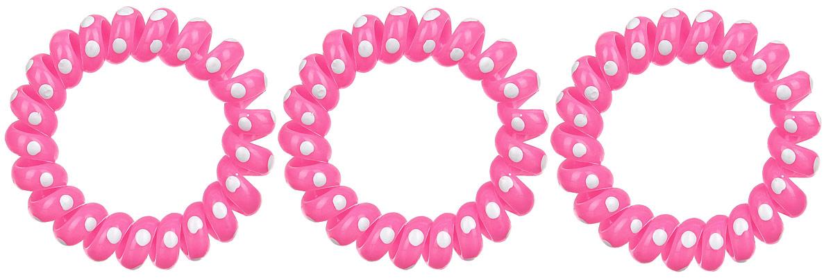 Резинка-браслет для волос Mitya Veselkov, цвет: розовый, 3 шт. REZ2REZ2-ROSЯркие резинки-браслеты Mitya Veselkov выполнены из качественного ПВХ и оформлены узором в горошек. Столь необычная форма резинок дает множество преимуществ. Резинка не оставляет заломов на волосах. При длительном ношении, снимая ее, вы не почувствуете усталость волос.Оригинально смотрится на волосах. Отлично сохраняет свою форму и надежно фиксирует прическу. Не мокнет. Не травмирует волосы. В отличие от обычных резинок, нет трения, зажимов отдельных волосков или прядей.Также их можно использовать как стильные браслеты.