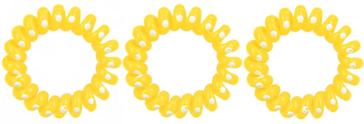 Резинка-браслет для волос Mitya Veselkov, цвет: желтый, 3 шт. REZ2 резинки mitya veselkov резинка для волос