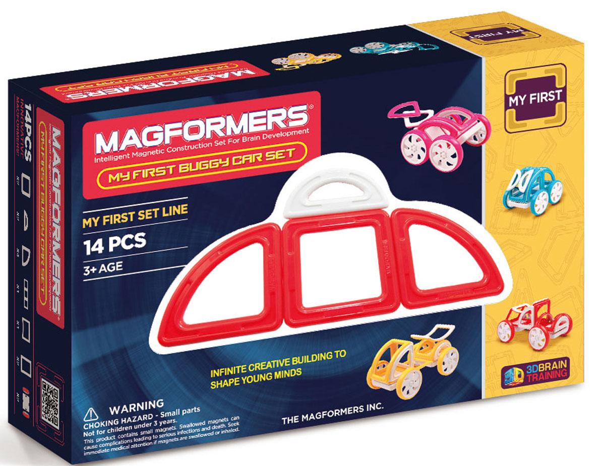 Magformers Магнитный конструктор My First Buggy Car Set цвет красный стикер декоративный автомобильный phantom my car сердечки