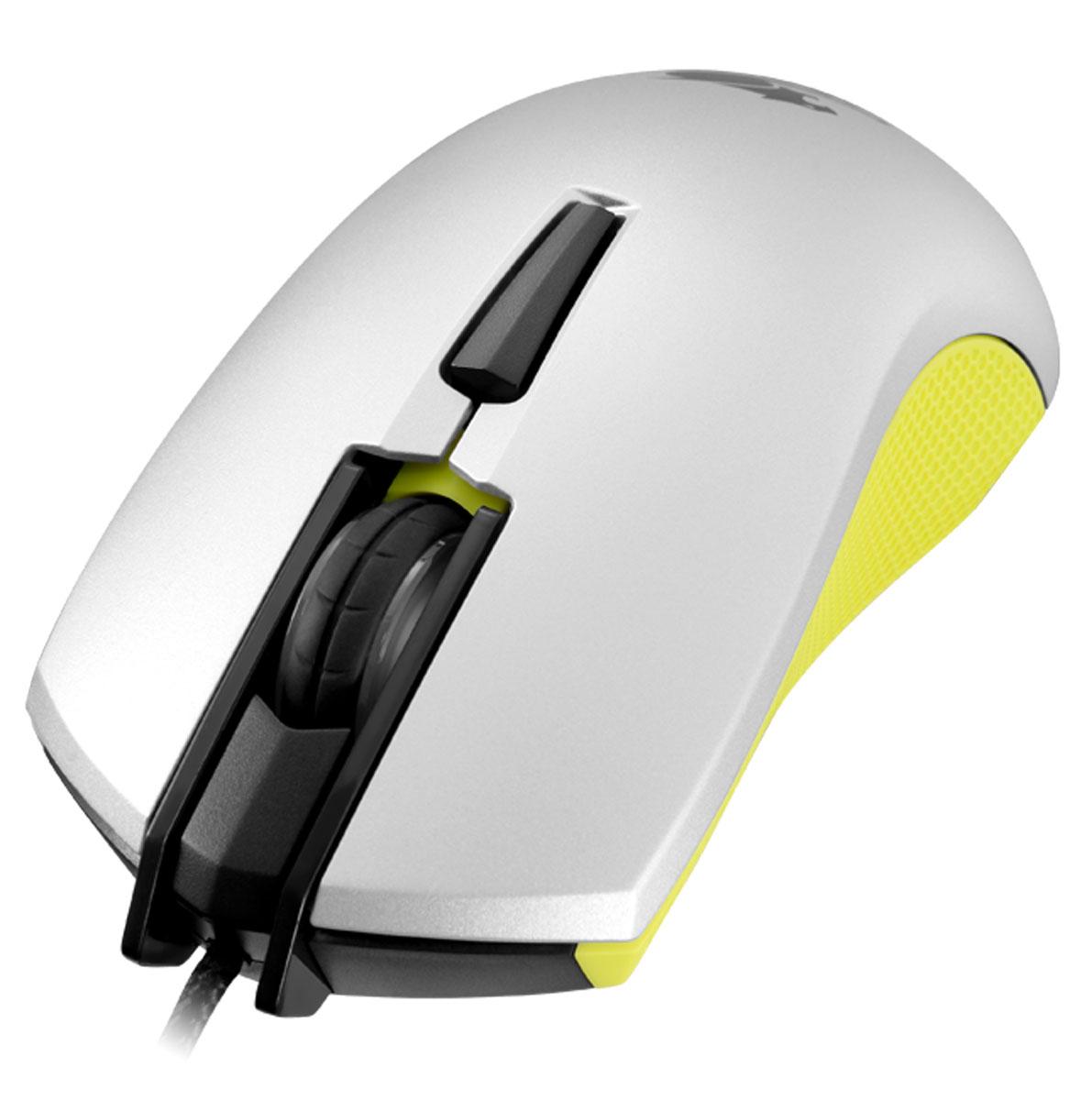 Cougar 230M, Yellow игровая мышьCU230M-YИгровая мышь Cougar 230M с оптическим сенсором продвинутого игрового уровня сочетает в себе доступную цену и функциональность.Продвинутый сенсор 3200 dpi:Сенсорная технология игровой точности 3200 dpi. Высокопроизводительный оптический датчик.Переключатели Omron:Переключатели Omron гарантируют 5 миллионов кликов для самой продолжительной игровой жизни.Переключение On-the-Fly:Система настройки разрешения dpi ON-THE-FLY. Быстрое переключение между различными настройками разрешения - 400/800/1600/3200 dpi.симметричная форма:Удобная форма Cougar 230M идеально подходит для хвата как правой, так и левой рукой, а дополнительные клавиши расположены с обеих сторон, что позволяет и левшам, и правшам использовать полную функциональность мыши.Плетеный Кабель:Прочное и долговечное решение для игроманов, защищает мышь Cougar 230M от износа.Нескользящее боковое покрытие:Мышь держит игровые победы под контролем - корпус устройства имеет высококачественное нескользящее боковое покрытие.Подсветка колесика:Светодиодная подсветка колесика с эффектом дыхания в цвет корпуса.Сенсор: PAW-3307Частота опроса: 1000 ГцВремя отклика: 1 мсСвичи: OMRONСкорость съемки: 3600 FPSМаксимальная скорость слежения: 65 IPSМаксимальное ускорение: 30G