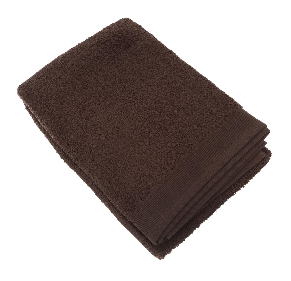 """Полотенце махровое """"Guten Morgen"""", цвет: какао, 70 см х 140 см"""