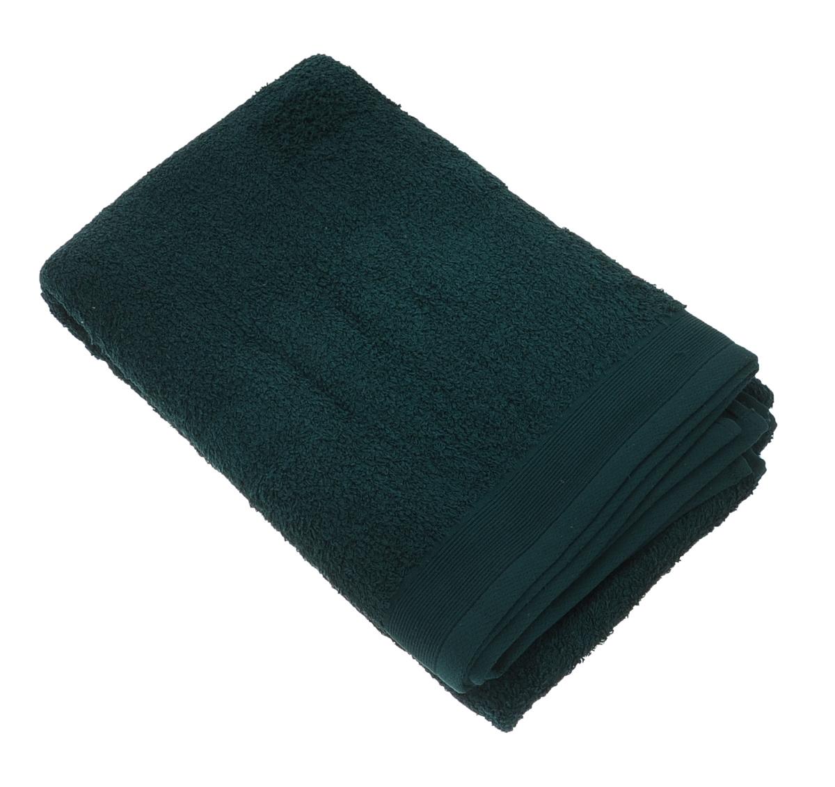"""Полотенце махровое """"Guten Morgen"""", цвет: темно-зеленый, 100 х 150 см"""