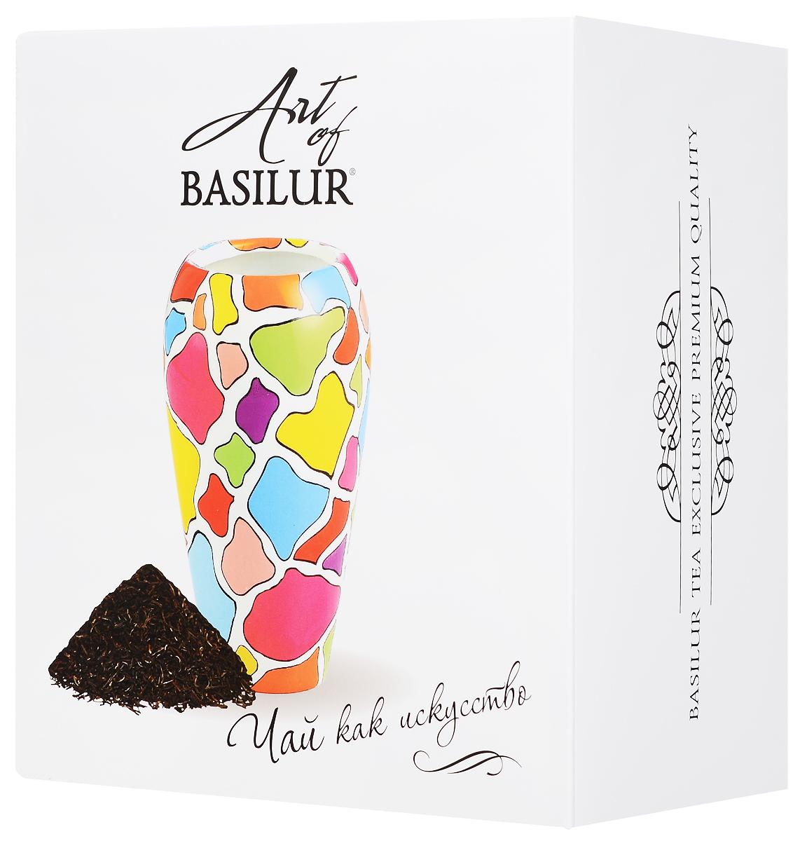 где купить Basilur Strawberry And Kiwi черный листовой чай + ваза Венера Мозаика, 100 г по лучшей цене
