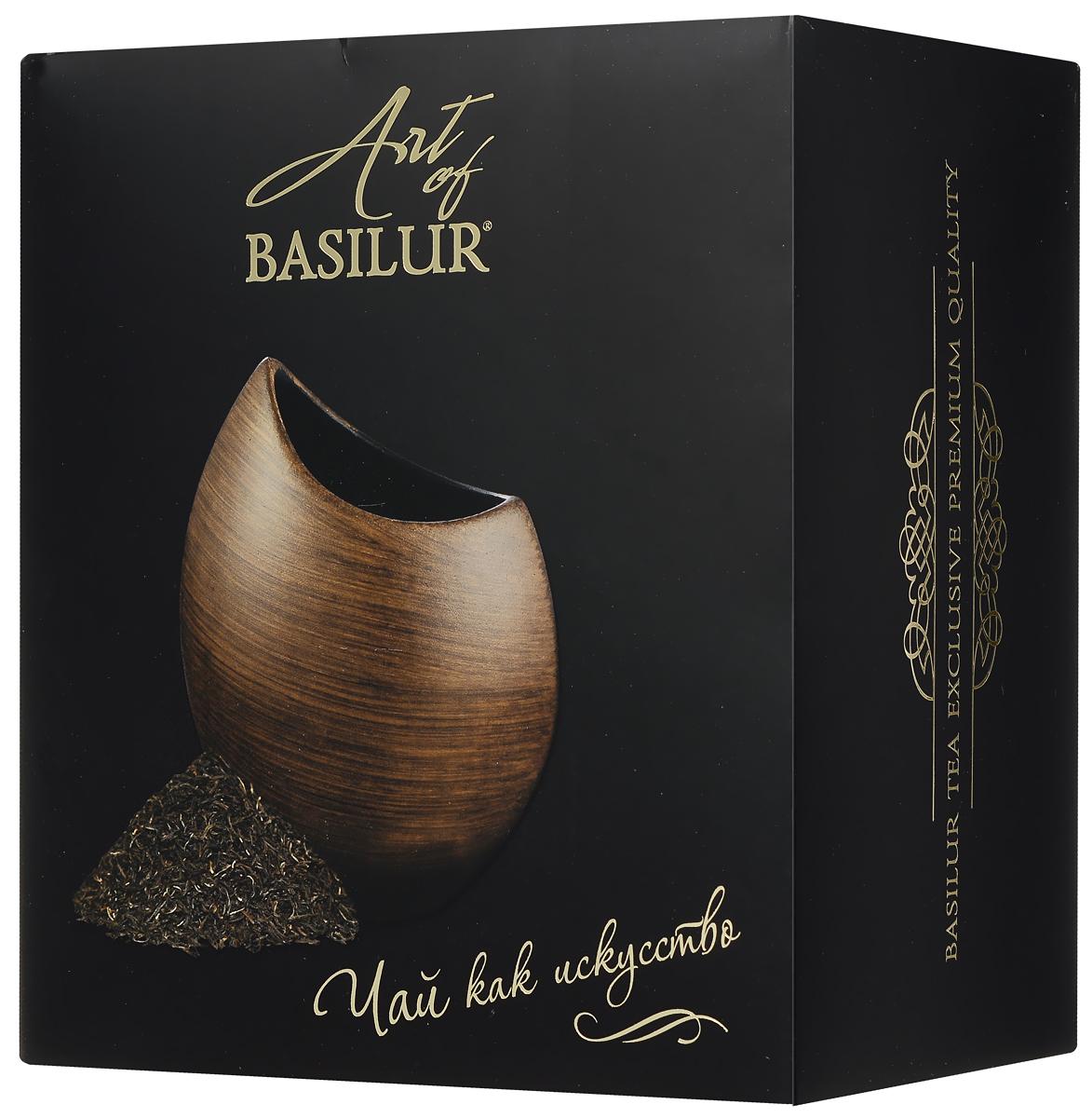 Basilur Special черный листовой чай + ваза Аура Дерево, 100 г50320-00Уникальный стильный набор Art Of Basilur представляет собой дизайнерскую керамическую вазу и элитный цейлонский чай Basilur Special. Особый, качественный черный листовой чай с типсами - верхними молодыми чайными почками - привнесет вкус роскоши, а элегантная керамическая ваза Аура послужит прекрасным дополнением к интерьеру вашего дома.Ваза изготовлена из керамики высокого качества и стилизована под деревянную текстуру. Небольшой размер и утонченность линий вазы подчеркнут красоту яркого невысокого букета цветов или может использоваться в качестве стильного декоративного элемента. Она подчеркнет богатство интерьера и оригинальный вкус владельца, а качественный цейлонский чай окажется приятным согревающим дополнением.Материал вазы: керамикаВысота вазы: 18 смРазмер отверстия для цветов: 10 x 6 смДиаметр основания вазы: 6,5 смСтрана-изготовитель вазы: Китай