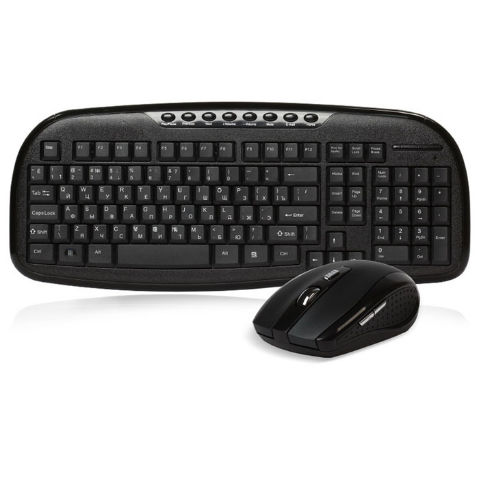 SmartBuy SBC-205507AG, Black клавиатура + мышь