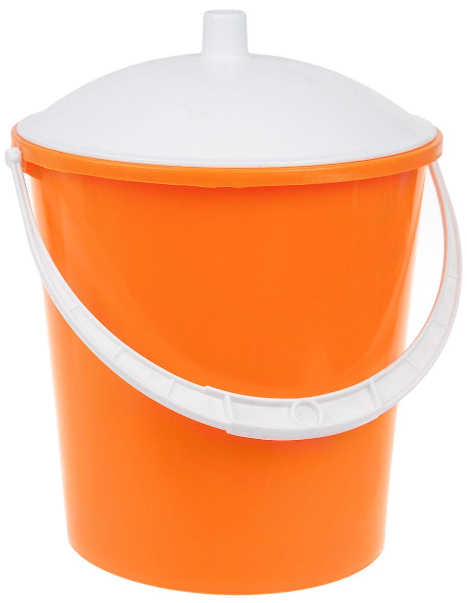 Ведро Альтернатива Крепыш, с крышкой, цвет: оранжевый, белый, 5 лК341_оранжевый, белыйВедро Альтернатива Крепыш изготовлено из высококачественного цветного пластика. Онолегче железного и не подвергается коррозии. Ведро оснащено ручкой для удобной переноски икрышкой.Такое ведро станет незаменимым помощником в хозяйстве.Диаметр (по верхнему краю): 22 см. Высота (без учета крышки): 20,5 см.