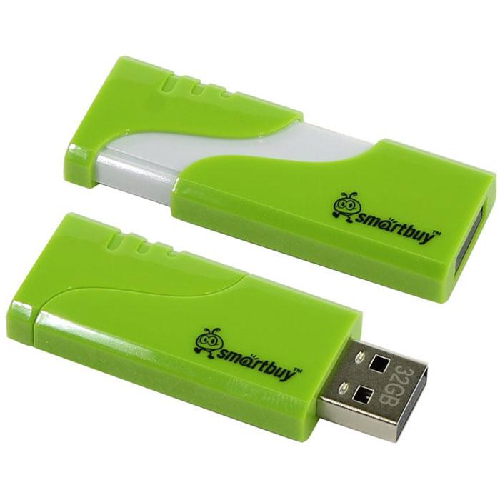 SmartBuy Hatch 32GB, Green USB-накопительSB32GBHTH-GSmartBuy Hatch 32GB - это стильный, компактный и производительный флеш-накопитель. Он позволяет быстро передавать большое количество информации, такой как документы, фотографии, видео- и аудиофайлы и даже фильмы! Накопитель SmartBuy Hatch 32GB можно использовать как временное, так и постоянное хранилище информации. Устройство совместимо с Windows 8/7/XP/2000/Vista, Mac OS 8.6 и Linux 2.4.0 (или выше).Пропускная способность интерфейса: 480 Мбит/сек
