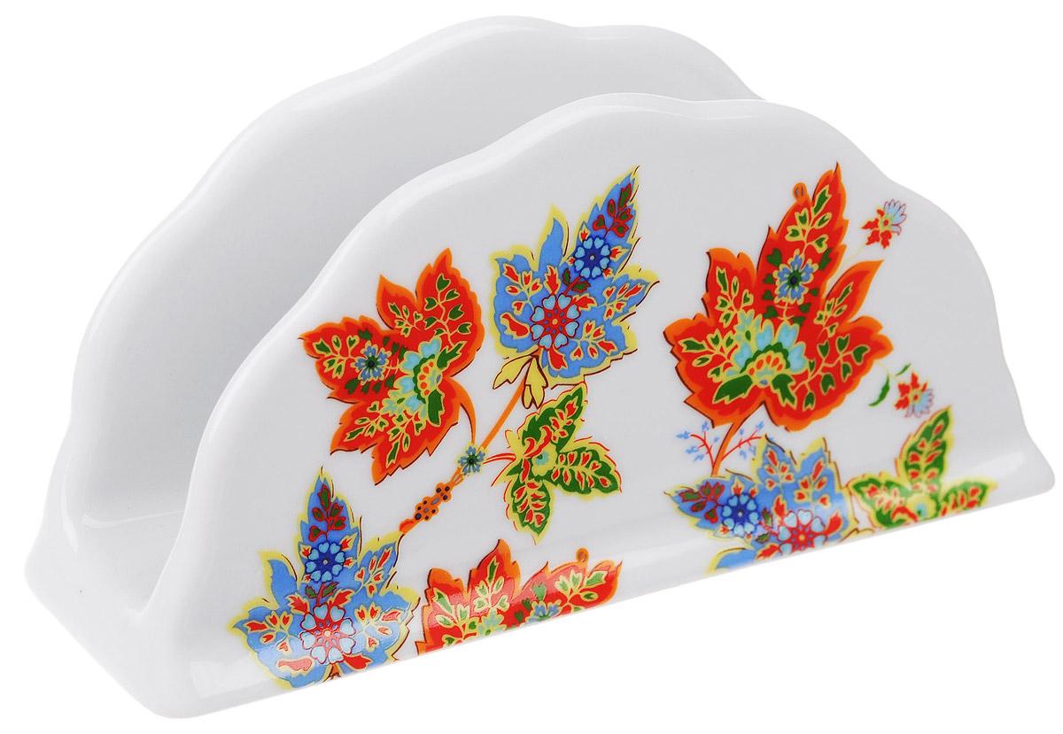 Салфетница Larange Восточный микс, 14 см х 4 см х 7 см586-350Салфетница Восточный микс выполнена из высококачественного фарфора иукрашенаизображением кленовых листьев. Салфетница идеально подойдетдля украшения стола и станет отличным подарком к любому празднику.Элегантный дизайн салфетницы придется по вкусу и ценителям классики, и тем, ктопредпочитает утонченность и изысканность.Не применять абразивные чистящие вещества.