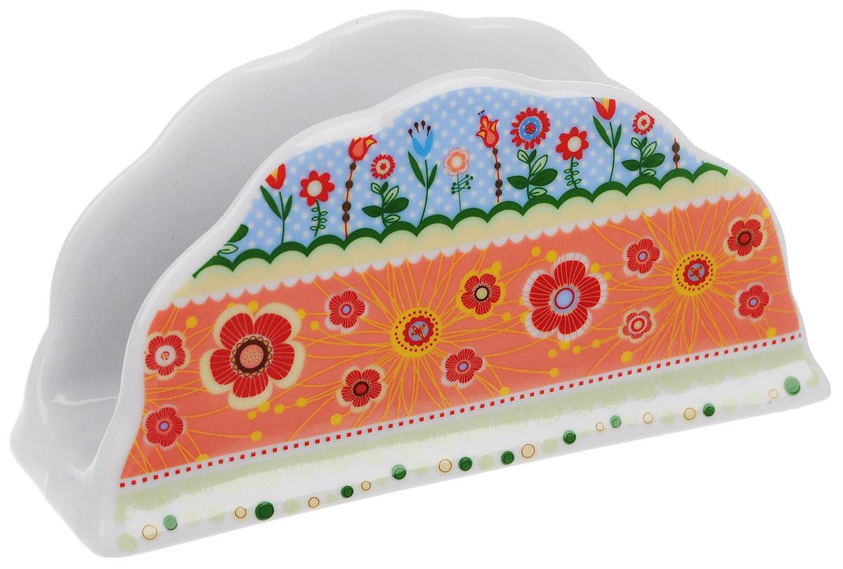 Салфетница Larange Фьюжн, 14 х 4 х 7 см586-349Салфетница Фьюжн выполнена из высококачественного фарфора и украшенацветочным узором. Салфетница идеально подойдетдля украшения стола и станет отличным подарком к любому празднику.Элегантный дизайн салфетницы придется по вкусу и ценителям классики, и тем, ктопредпочитает утонченность и изысканность.Не применять абразивные чистящиевещества.