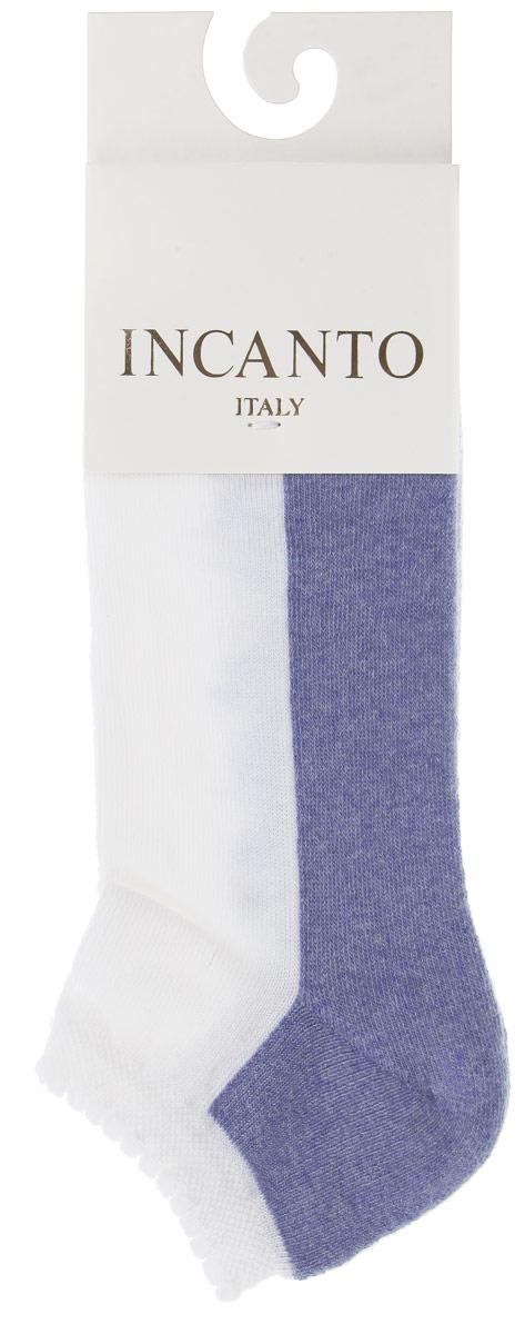 Носки женские Incanto Collant, цвет: белый, синий (Bianco, Azzurro M). IBD731004. Размер 3 (39/40) incanto носки женские cot ibd731002 salmone m