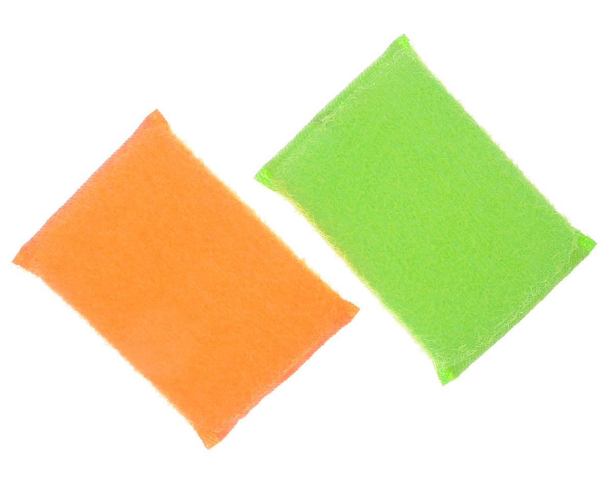 Губка для мытья посуды Хозяюшка Мила Кактус, цвет: оранжевый, зеленый, 2 шт4610000261705_оранжевый, зеленыйНабор Хозяюшка Мила Кактус состоит из 2 губок, изготовленных из поролона. Они предназначены для интенсивной чистки и удаления сильных загрязнений с посуды (противни, решетки-гриль, кастрюли).Не рекомендуется использовать для посуды с антипригарным покрытием. Губки сохраняют чистоту и свежесть даже после многократного применения, а их эргономичная форма удобна для руки.Размер губки: 12 х 2 х 8 см.