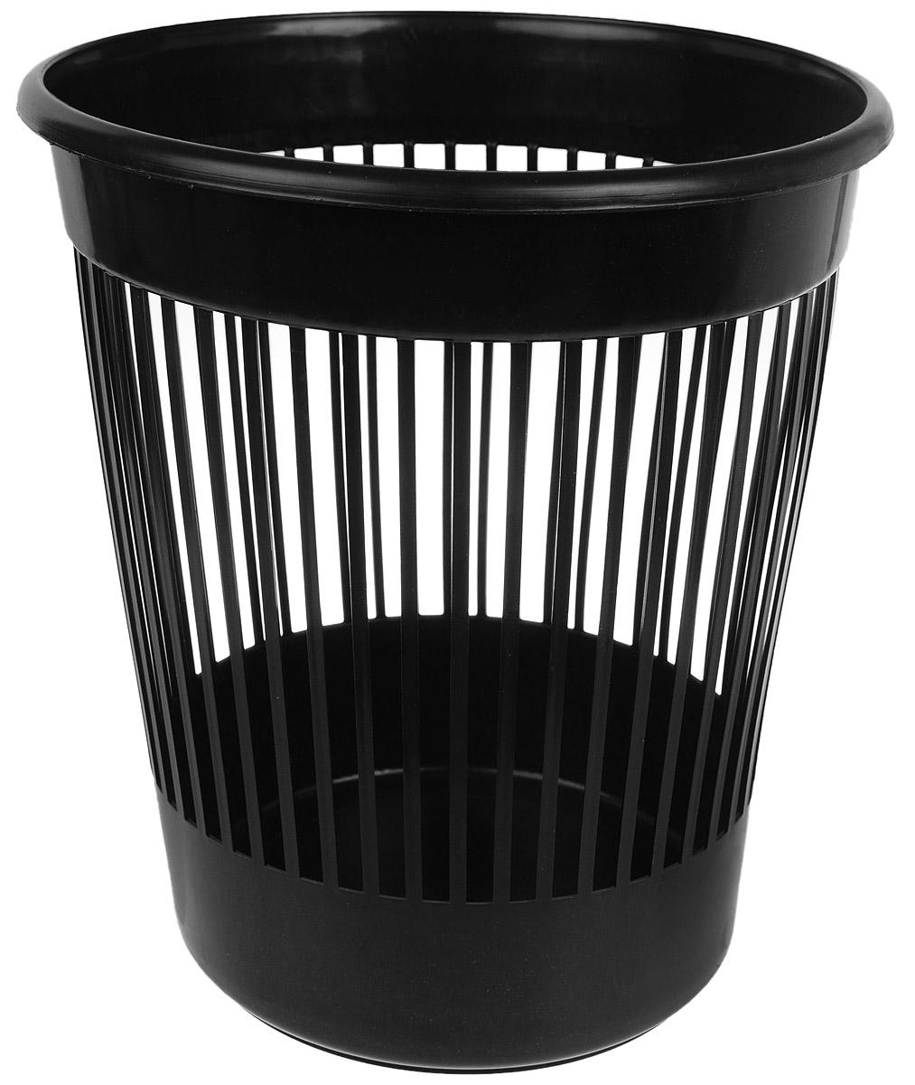 Корзина для бумаг Алеана, цвет: черный, 12 л122052_черныйКорзина Алеана, выполненная из высококачественного полипропилена, предназначена длясбора мелкого мусора и бумаг. Стенки изделия с перфорацией. Такая корзина поможет содержать ваше рабочееместо в порядке, а лаконичный дизайн отлично впишется в любой интерьер дома или офиса.Диаметр корзины (по верхнему краю): 28 см. Высота корзины: 30 см.