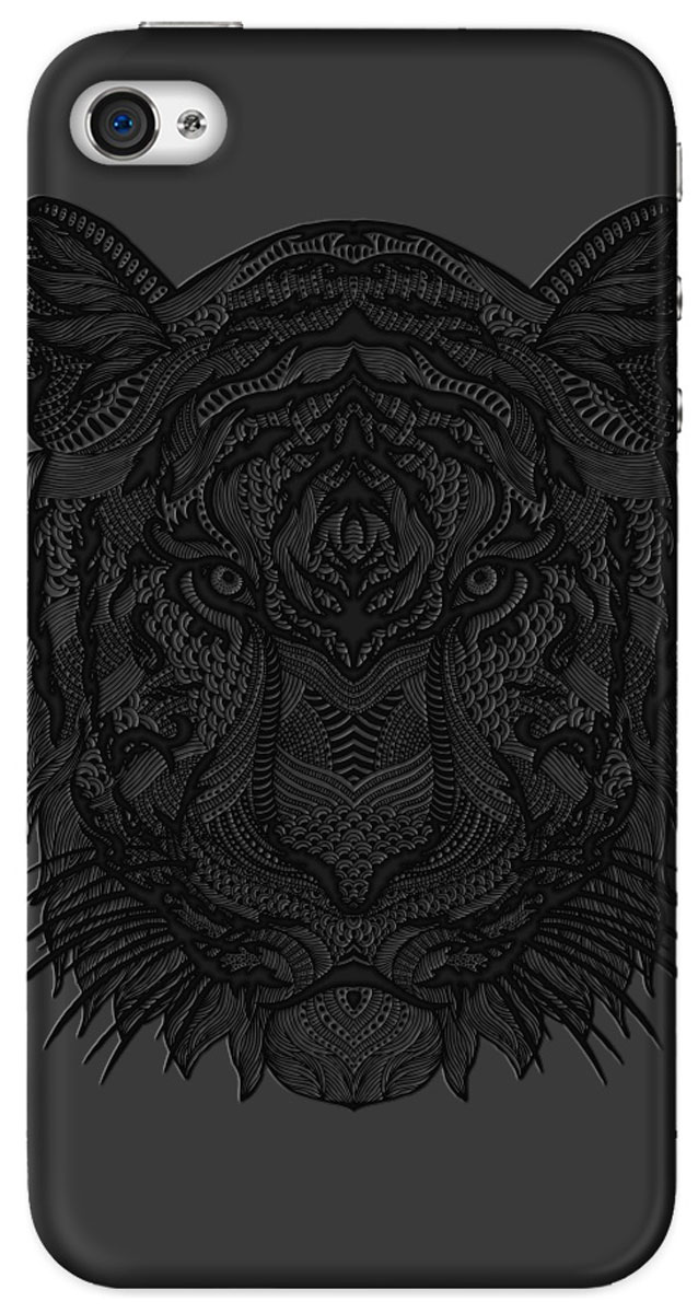 Deppa Art Case чехол для Apple iPhone 4/4s, Black (тигр) чехол для iphone 7 deppa art case animal тигр