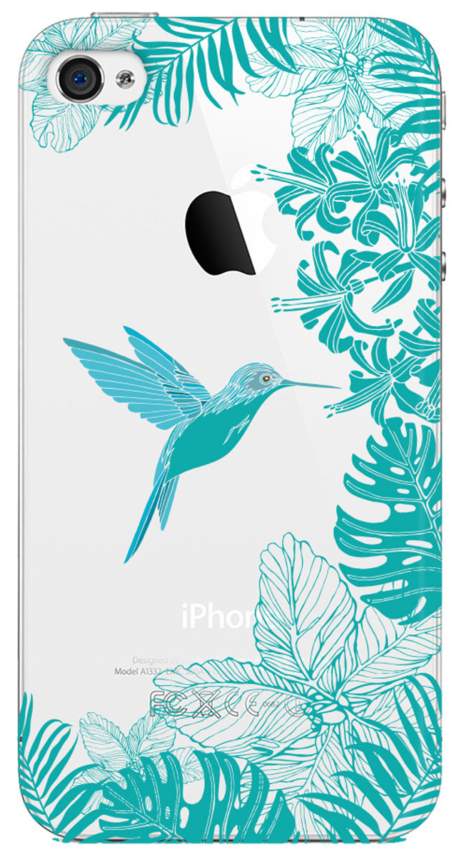 Deppa Art Case чехол для Apple iPhone 4/4s, Jungle (колибри) protective silk style pu leather case for iphone 4 4s white