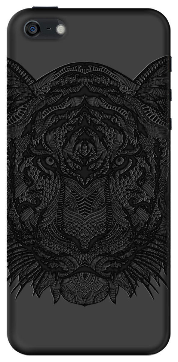 Deppa Art Case чехол для Apple iPhone 5/5s, Black (тигр)