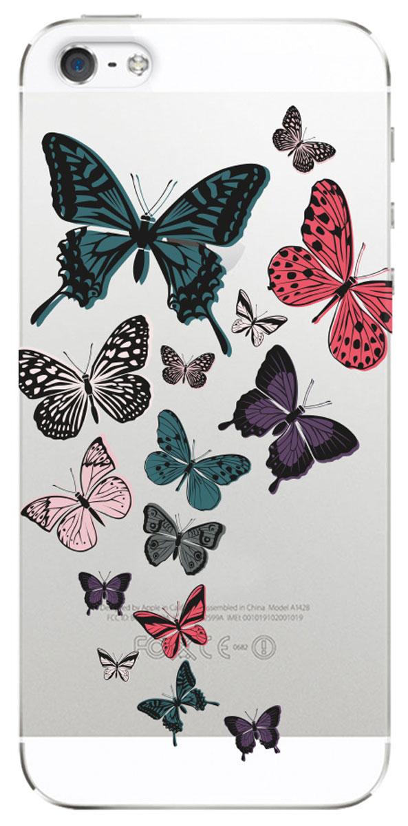 Deppa Art Case чехол для Apple iPhone 5/5s, Military (бабочки 2) чехол для iphone 5 глянцевый с полной запечаткой printio ember spirit dota 2