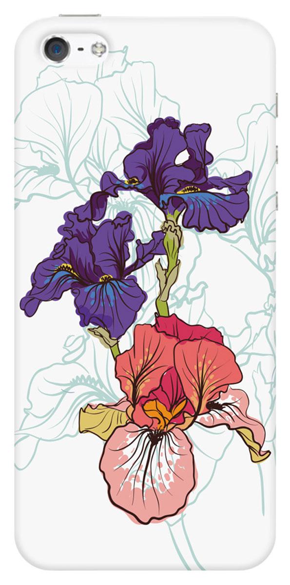 Deppa Art Case чехол для Apple iPhone 5/5s, Pastel (ирисы)