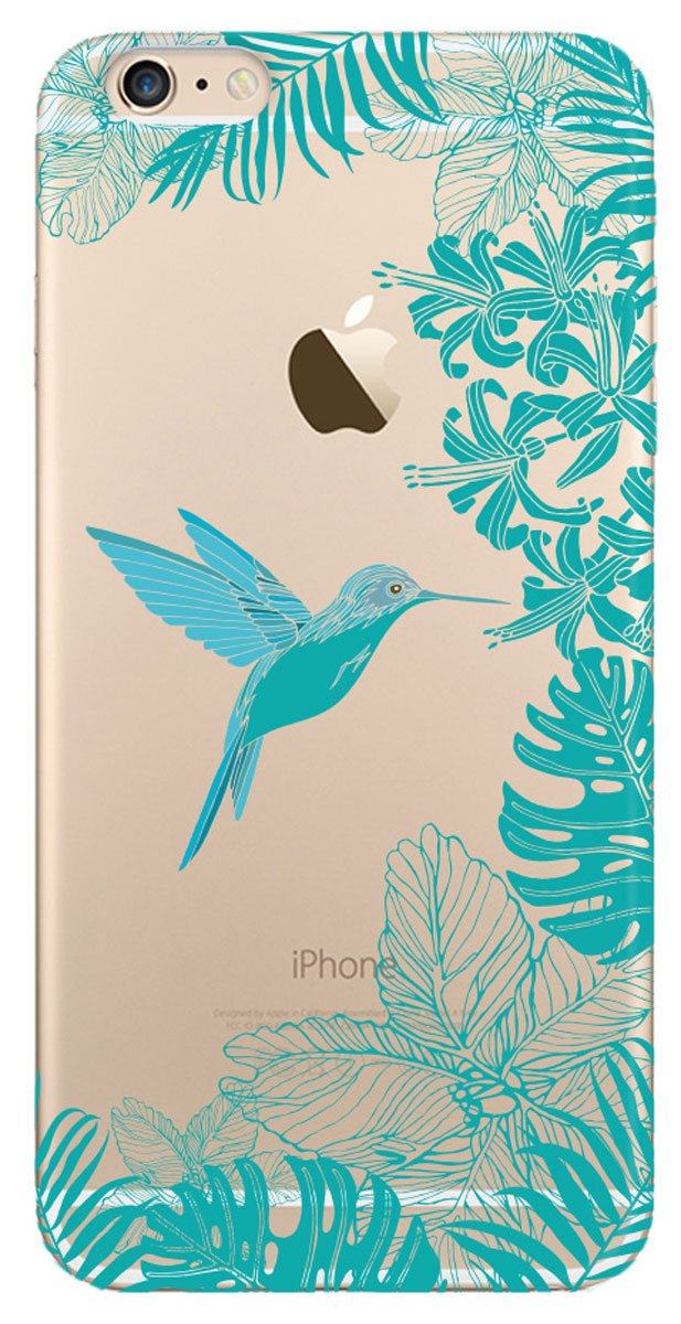 Deppa Art Case чехол для Apple iPhone 6 Plus/6s Plus, Jungle (колибри)