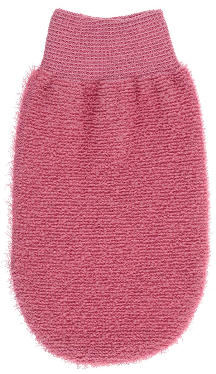 Riffi Мочалка-рукавица, массажная, двухсторонняя, цвет: коралловый. 707 губка для тела riffi цвет бежевый 747