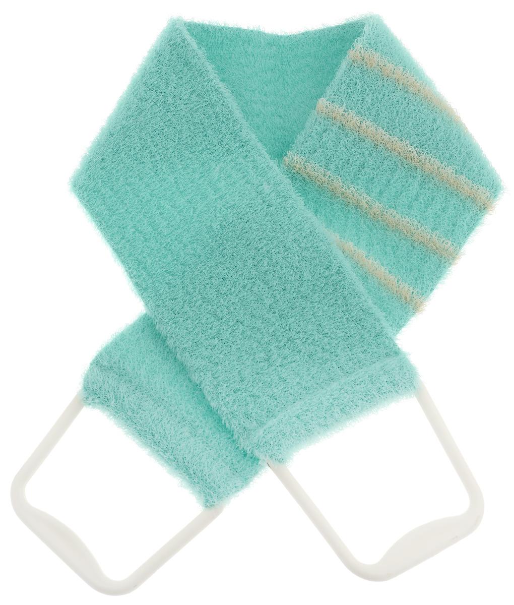 Riffi Мочалка-пояс, массажная, жесткая, цвет: салатовый. 824824_салатовыйМочалка-пояс Riffi используется для мытья тела, обладает активным пилинговым действием, тонизируя, массируя и эффективно очищая вашу кожу. Хлопковая основа придает мочалке высокие моющие свойства, а примесь жестких синтетических волокон усиливает ее массажное воздействие на кожу. Для удобства применения пояс снабжен двумя пластиковыми ручками. Благодаря отшелушивающему эффекту мочалки-пояса, кожа освобождается от отмерших клеток, становится гладкой, упругой и свежей. Массаж тела с применением Riffi стимулирует кровообращение, активирует кровоснабжение, способствует обмену веществ, что в свою очередь позволяет себя чувствовать бодрым и отдохнувшим после принятия душа или ванны. Riffi регенерирует кожу, делает ее приятно нежной, мягкой и лучше готовой к принятию косметических средств. Приносит приятное расслабление всему организму. Борется со спазмами и болями в мышцах, предупреждает образование целлюлита и обеспечивает омолаживающий эффект. Моет легко и энергично. Быстро сохнет. Гипоаллергенная.Товар сертифицирован.